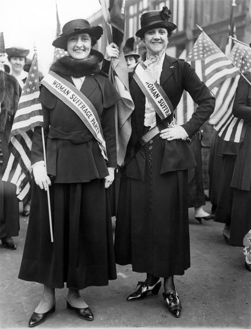 American Suffragists. /Nplaywright Mercedes De Acosta And Her Sister Demonstrating For Women'S Suffrage During World War I. Poster Print by Granger Collection - Item # VARGRC0014049