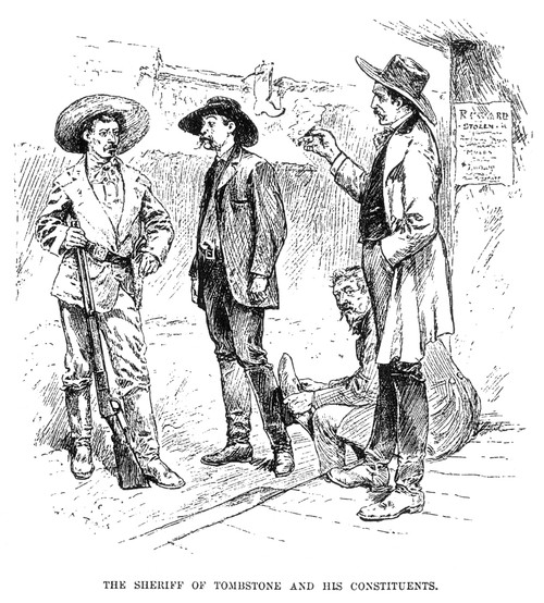 Tombstone Sheriff, 1883. /Nthe Sheriff And His Constituents Of Tombstone, Arizona. Wood Engraving. Poster Print by Granger Collection - Item # VARGRC0018199