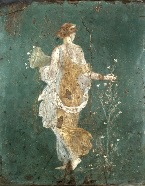 Rome: Young Woman. /Nyoung Woman Gathering Flowers: Roman Wall Fresco, 1St Century A.D. Poster Print by Granger Collection - Item # VARGRC0032524