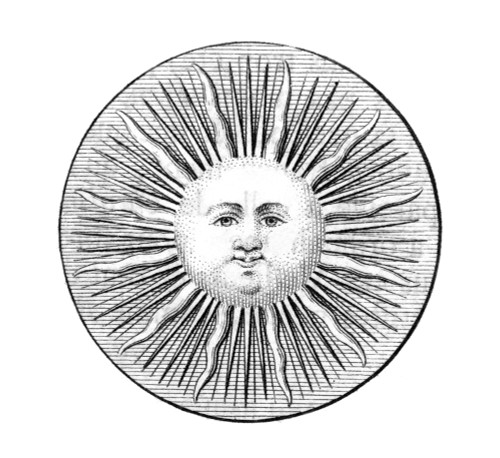 Sun Face, Decorative, 1751. /Ncopper Engraving, French. Poster Print by Granger Collection - Item # VARGRC0005465
