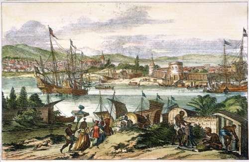 View Of St. Augustine, Fla. /Nearlier Known As Pagus Hispanorum. Copper Engraving, 1673. Poster Print by Granger Collection - Item # VARGRC0009749