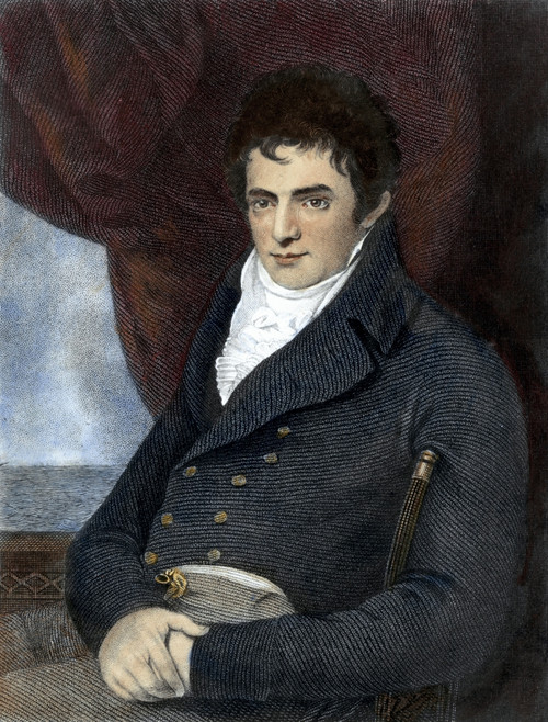 Robert Fulton (1765-1815). /Namerican Engineer And Inventor. Steel Engraving, 1836, After Benjamin West. Poster Print by Granger Collection - Item # VARGRC0080187