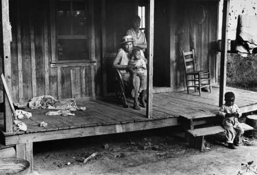 Sharecropper Family, 1935. /Na Family Of Sharecroppers Outside Their Home In Little Rock, Arkansas. Photograph By Ben Shahn, October 1935. Poster Print by Granger Collection - Item # VARGRC0172632