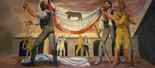 California Republic. /Nthe Bear Flag Of The California Republic Being Raised At Sonoma, June 1846. Mural By Anton Refregier. Poster Print by Granger Collection - Item # VARGRC0039382