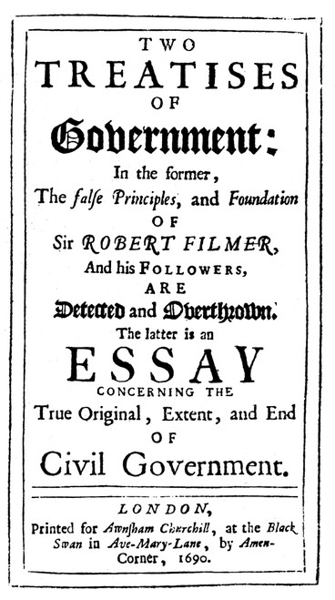 John Locke (1632-1704). /Nenglish Philosopher. Title Page Of The First Edition Of His Two Treatises Of Government, London, 1690. Poster Print by Granger Collection - Item # VARGRC0050760