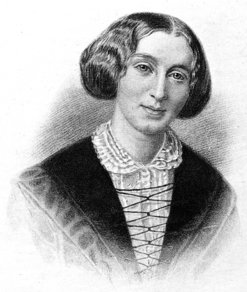 George Eliot (1819-1880). /Npseudonym Of Mary Ann Evans Cross. English Novelist. At Age 30. Stipple Engraving, 19Th Century. Poster Print by Granger Collection - Item # VARGRC0005538