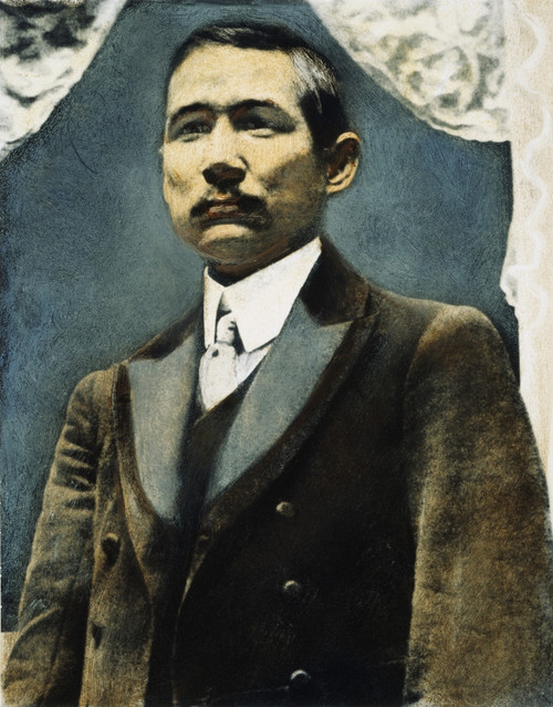 Sun Yat-Sen (1866-1925). /Nchinese Statesman And Revolutionary Leader. Oil Over A Photograph, 19Th Century. Poster Print by Granger Collection - Item # VARGRC0048499