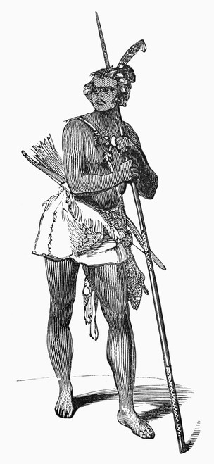 Native American Chief, 19Th Century. /Nline Engraving, American, 19Th Century. Poster Print by Granger Collection - Item # VARGRC0095614