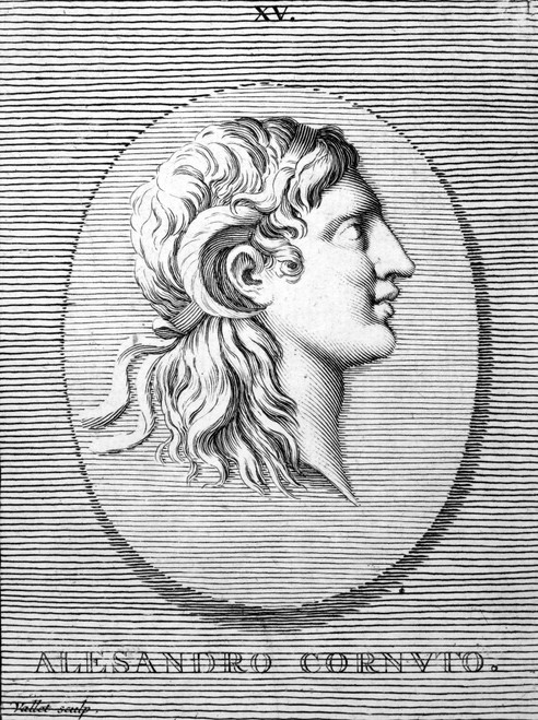 Alexander The Great (356-323 B.C.). /Nking Of Macedonia. Copper Engraving, 18Th Century. Poster Print by Granger Collection - Item # VARGRC0040342