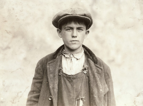 Hine: Boy, 1916. /N17-Year-Old James Donovan, An Irish Sweeper At The Fall River Iron Works In Fall River, Massachusetts. Photograph By Lewis Wickes Hine, 1916. Poster Print by Granger Collection - Item # VARGRC0324047