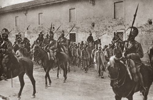 Wwi: Austrian Prisoners. /Naustrian Prisoners Of War Captured By Italian Forces At The Battle Of Gorizia, August 1916. Photograph. Poster Print by Granger Collection - Item # VARGRC0408058