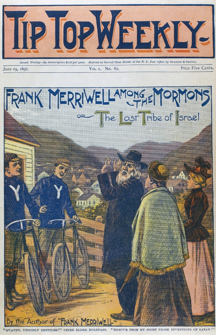 Dime Novel, 1896. /N'Frank Merriwell Among The Mormons, Or The Lost Tribe Of Israel.' Cover Of A Street And Smith Dime Novel Of 1896 In The 'Frank Merriwell' Series. Poster Print by Granger Collection - Item # VARGRC0094307