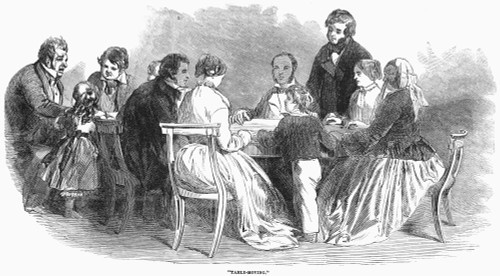 Spiritualism: Seance, 1853. /N'Table Moving' At An English Seance In 1853. Contemporary Wood Engraving. Poster Print by Granger Collection - Item # VARGRC0045190