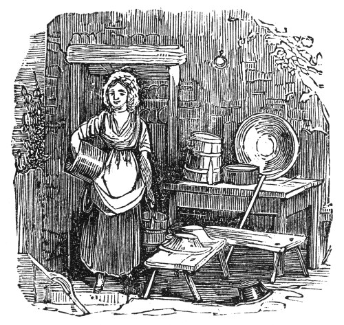 Daily Life: Housework. /Nwood Engraving, American, Early 19Th Century. Poster Print by Granger Collection - Item # VARGRC0043325