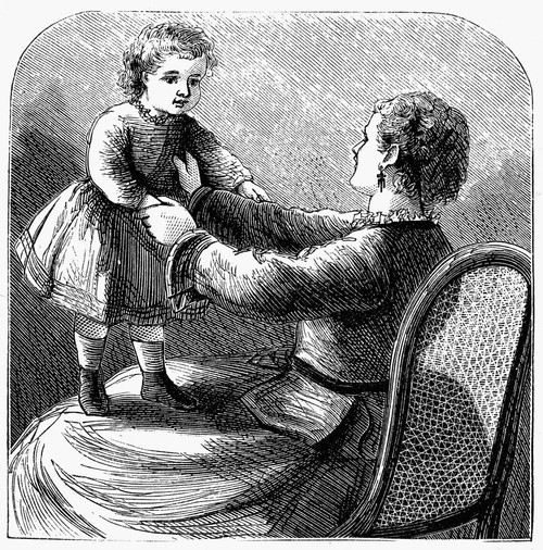 Mother And Child, 1873. /Nwood Engraving, American, 1873. Poster Print by Granger Collection - Item # VARGRC0093451