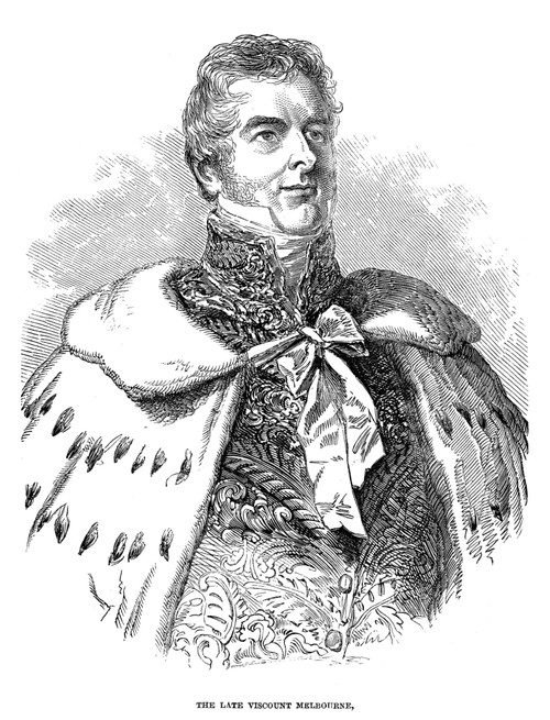 Lord William Lamb (1779-1848). /N2Nd Viscount Melbourne. English Statesman. Wood Engraving, 1848, After Sir George Hayter. Poster Print by Granger Collection - Item # VARGRC0048525