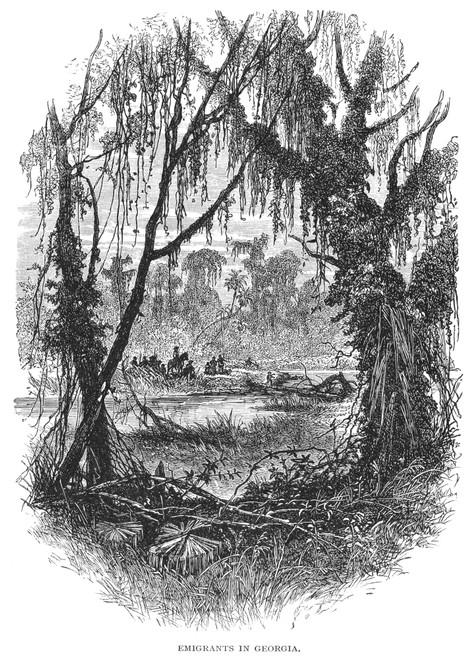 Georgia: Emigrants. /Nwood Engraving, 19Th Century. Poster Print by Granger Collection - Item # VARGRC0015193