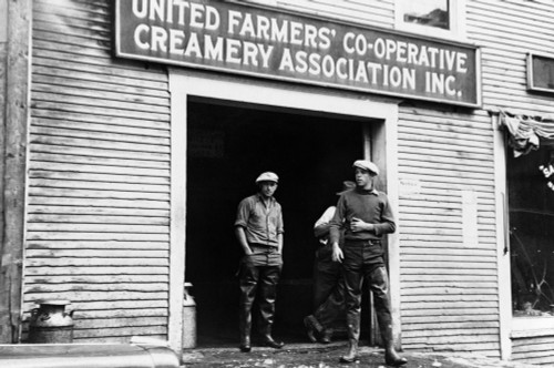 Vermont: Milk Co-Op, 1936. /Nworkers Standing In The Entrance Of The United Farmers' Co-Operative Creamery Association In Hardwick, Vermont. Photograph By Carl Mydans, September 1936. Poster Print by Granger Collection - Item # VARGRC0121152