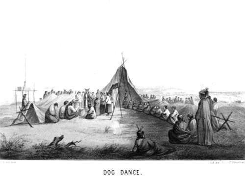 Native Americans: Dog Dance, 1857. /Na German Depiction Of Plains Native Americans. Lithograph, Dusseldorf, Germany, 1857. Poster Print by Granger Collection - Item # VARGRC0078861