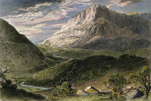 Cumberland Gap, 1872. /Nthe Cumberland Gap, Tennessee. Line Engraving, American, 1872. Poster Print by Granger Collection - Item # VARGRC0008657