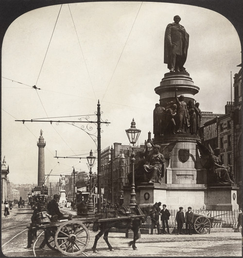 Ireland: Dublin, C1900. /Nmonument Of O'Connell And Nelson'S Pillar, Dublin, Ireland. Stereograph, C1900. Poster Print by Granger Collection - Item # VARGRC0322953