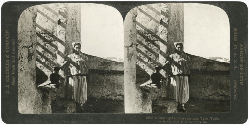 Tunisia: Girl, 1901. /Na Young Jewish Girl In Traditional House Dress In Tunis, Tunisia. Stereograph, 1901. Poster Print by Granger Collection - Item # VARGRC0326142