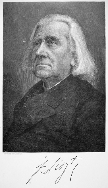 Franz Liszt (1811-1886). /Nhungarian Pianist And Composer. Wood Engraving, 1886. Poster Print by Granger Collection - Item # VARGRC0069762