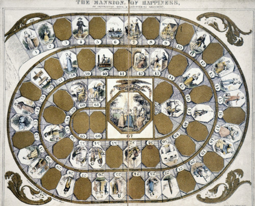 'Mansion Of Happiness.' /Nthought To Be First Board Game Produced In U.S., 1843. Poster Print by Granger Collection - Item # VARGRC0033836