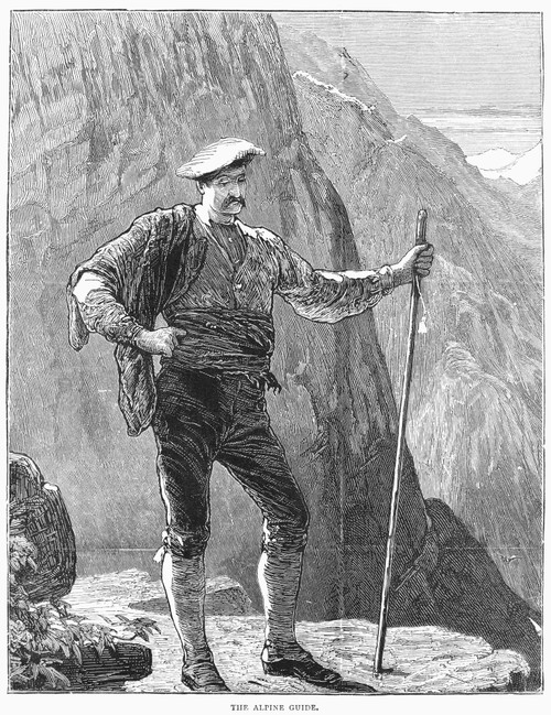 Alpine Guide, 19Th Century. /Nwood Engraving. Poster Print by Granger Collection - Item # VARGRC0033353