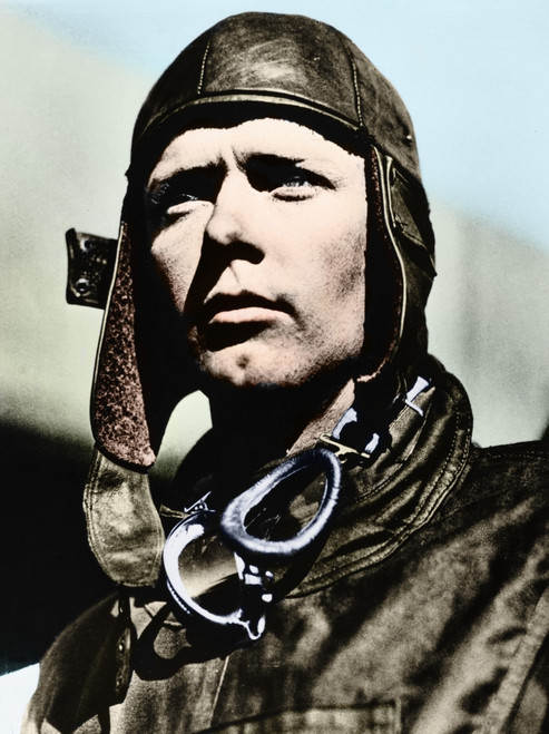 Charles Lindbergh /N(1902-1974). American Aviator. Photograph By Frank Hertz At Mitchell Field, New York, 1927, Digitally Colored By Granger, Nyc -- All Rights Reserved. Poster Print by Granger Collection - Item # VARGRC0408977