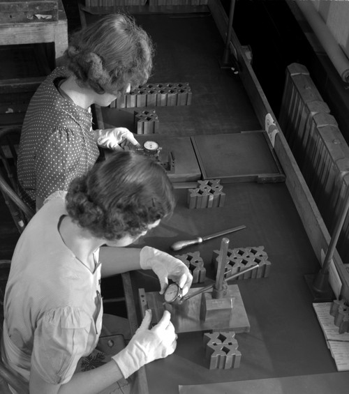 Boston: Factory, 1942. /Nwomen Working In A Gillette Factory Converted To War Production Work, In Boston, Massachusetts. Photograph By Howard R. Hollem, 1942. Poster Print by Granger Collection - Item # VARGRC0324137