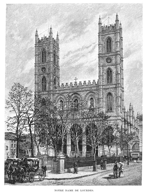 Montreal: Notre Dame. /Nnotre Dame Basilica At Montreal, Canada. Line Engraving, 1889. Poster Print by Granger Collection - Item # VARGRC0094596