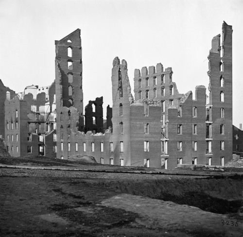 Civil War: Richmond, 1865. /Nruined Buildings In The Burned District Of Richmond, Virginia Following The American Civil War. Photograph, 1865. Poster Print by Granger Collection - Item # VARGRC0163369
