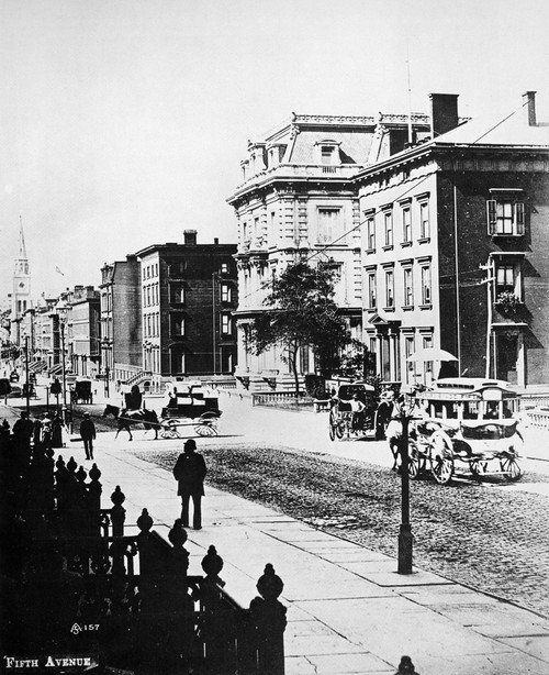 New York: Fifth Avenue. /Nlooking South On Fifth Avenue In New York City From 35Th Street, With The A.T. Stewart Mansion At Center. Photographed C1880. Poster Print by Granger Collection - Item # VARGRC0087334