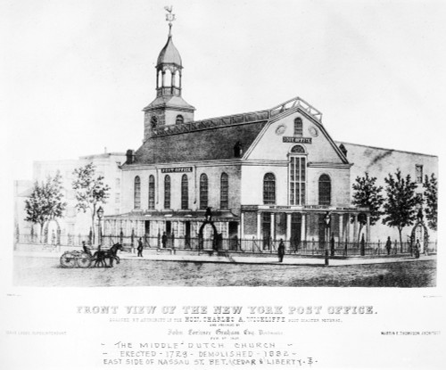 Post Office, 1845. /Nfront View Of The New York City Post Office. Lithograph, 1845. Poster Print by Granger Collection - Item # VARGRC0080315