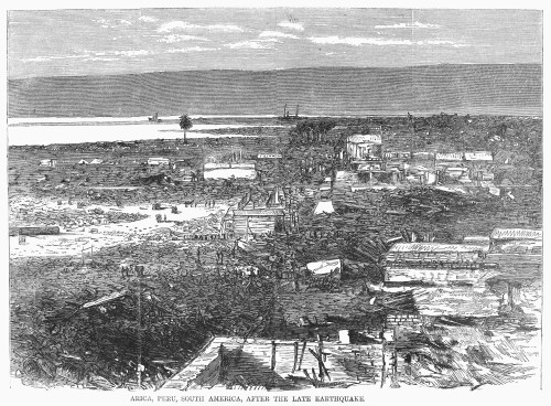 Peru: Earthquake, 1868. /Nview Of Destruction At Arica, Peru, After The Earthquake Of 13 August 1868. Poster Print by Granger Collection - Item # VARGRC0092683