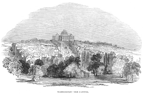Washington, D.C., 1844. /Na View Of Washington, D.C., With The Capitol In The Background. Wood Engraving, 1844. Poster Print by Granger Collection - Item # VARGRC0052607