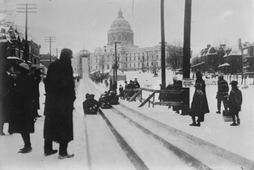 St. Paul Winter Carnival. /Nbobsledders At The St. Paul Winter Carnival In St. Paul, Minnesota. Photograph, Late 19Th Century Or Early 20Th Century. Poster Print by Granger Collection - Item # VARGRC0323524