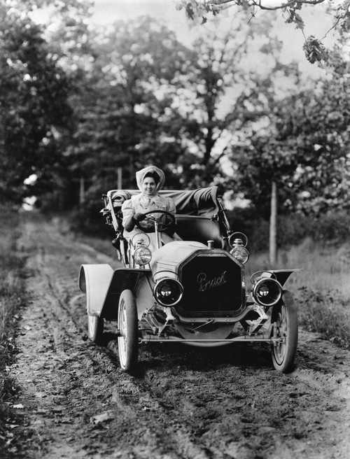 Buick Automobile, C1907. /Na Woman Driving A Buick Automobile On A Dirt Road. Photograph, C1907. Poster Print by Granger Collection - Item # VARGRC0171710