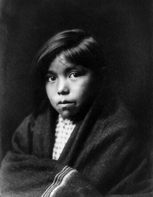 Navajo Girl, C1904. /Nportrait Of A Navajo Girl With A Blanket Wrapped Around Her. Photographed By Edward S. Curtis, C1904. Poster Print by Granger Collection - Item # VARGRC0115974