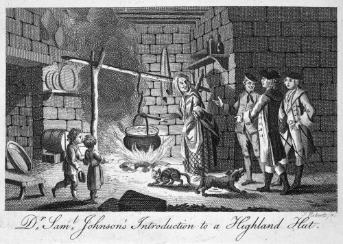 Samuel Johnson (1709-1784). /Nenglish Writer. An Incident During Johnson'S Journey With James Boswell To The Scottish Highlands And Hebrides In 1773. Copper Engraving, 18Th Century. Poster Print by Granger Collection - Item # VARGRC0004824