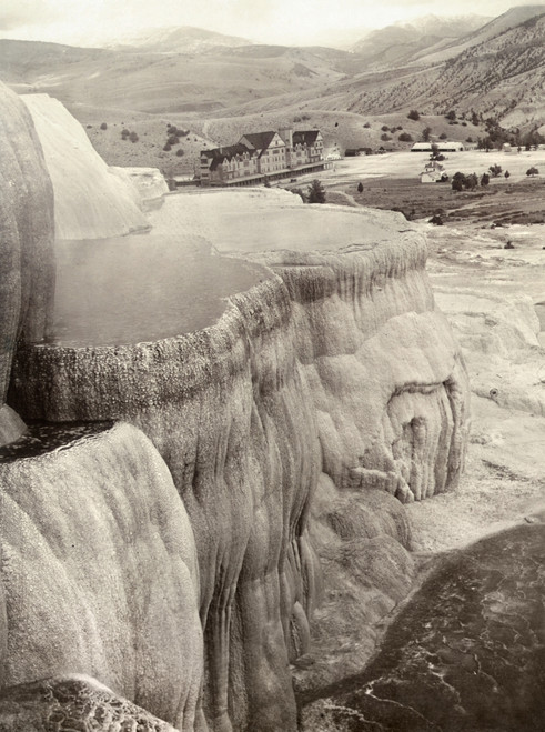 Yellowstone Park: Mammoth. /Nview Of Minerva Terrace And Mammoth Hot Springs Hotel On Gardiner'S River, Yellowstone National Park, Wyoming. Stereograph, C1890-1900. Poster Print by Granger Collection - Item # VARGRC0129980