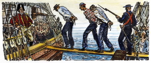 British: Impressment, 1800S. /Nbound American Seamen Forced To Leave Their Ship And Board A British Vessel Prior To The War Of 1812. Drawing. Poster Print by Granger Collection - Item # VARGRC0010686