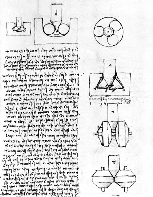 Leonardo: Ball-Bearings. /Ndrawing By Leonardo Da Vinci