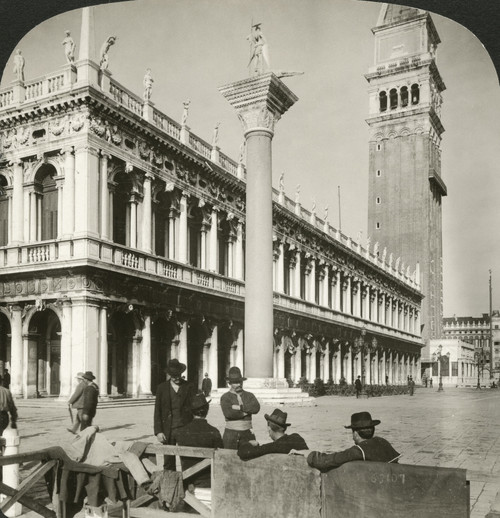 Venice: Piazza San Marco. /Nthe Library And Campanile At The Piazza San Marco In Venice, Italy. Stereograph, 1908. Poster Print by Granger Collection - Item # VARGRC0326594