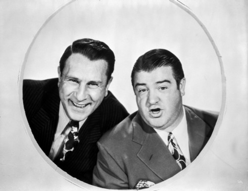 Abbott & Costello smiling Inside the Circle in Classic Portrait Photo Print - Item # VARCEL680758