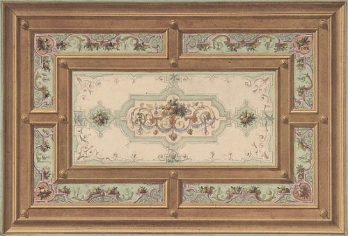 Design for a Painted Ceiling Poster Print by Jules-Edmond-Charles Lachaise (French  died 1897) (18 x 24) - Item # MET345649
