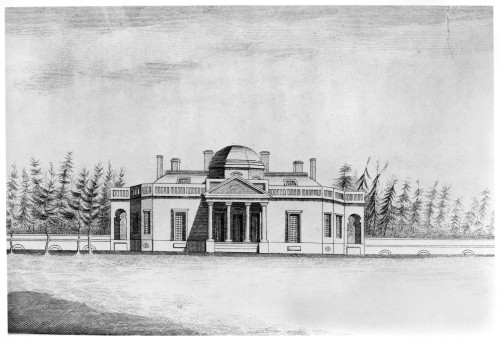 Jefferson: Monticello. /Nmonticello, Thomas Jefferson'S Home On His Plantation Near Charlottesville, Virginia. Line Engraving After A Sketch, C1815. Poster Print by Granger Collection - Item # VARGRC0131947