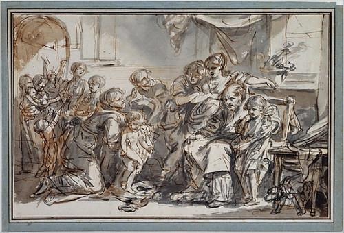 "Domestic Scene Poster Print by Jean-Baptiste Greuze (French  Tournus 1725  ""1805 Paris) (18 x 24) - Item # MET337248"