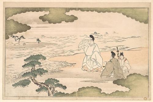 """The Exile of Yukihira at Suma Poster Print by Kitagawa Utamaro (Japanese  1753  """"1806) (18 x 24) - Item # MET37275"""